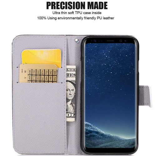 for Samsung Galaxy S9 Plus S8 Plus S6 S7 edge Note 8 Stand Flip Leather Wallet Phone Case Cover for Galaxy S8 S9 Note8