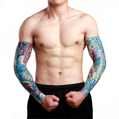 High Quality Fashion Design Best Promotion Fake Tattoo Sleeves Temporary Designs Body Art Tattoos Arm Warmer Stockings Sunscreen
