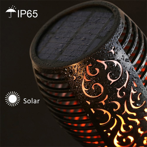 Solar Garden Lights Waterproof Outdoor Solar Torch Light Solar LED Flame Light Outdoor Landscape Decorative Path Lighting