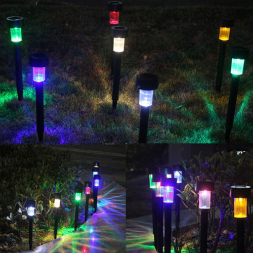 Vioslite Multi-package Waterproof Paeterre LED Outdoor Garden Light Lighting Sensor Solar Powered Landscape Yard Lawn Path Lamp