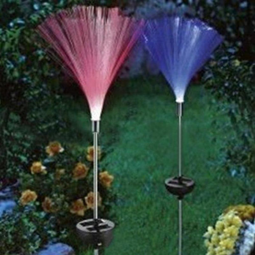 2pcs Multicolor LED Fiber Optic Lamp Light Holiday Centerpiece Optic Fiber LED Lighting garden waterproof Lawn light night lamp
