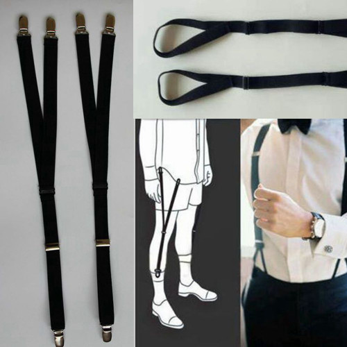 1 Pair Luxury Military Y Style Shirt Holders Uniform Shirt Stays Keepers Garters WSY9029