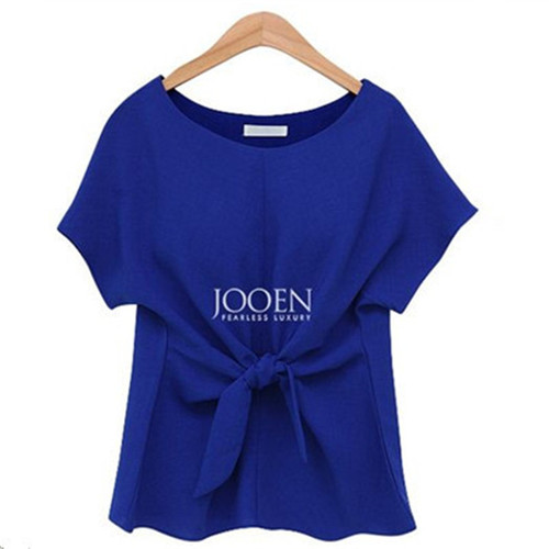2018 fashion women kimono Bowknot blouses O-neck short sleeve shirts chiffon casual vintage tops plus size XXXXL blusas blouse