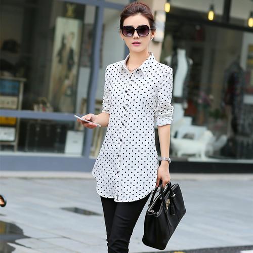 New Fashion Print Blouses Women Long Style Shirts 2018 Cotton Ladies Tops Long Sleeve Blusas Femininas Plus Size Women Clothing