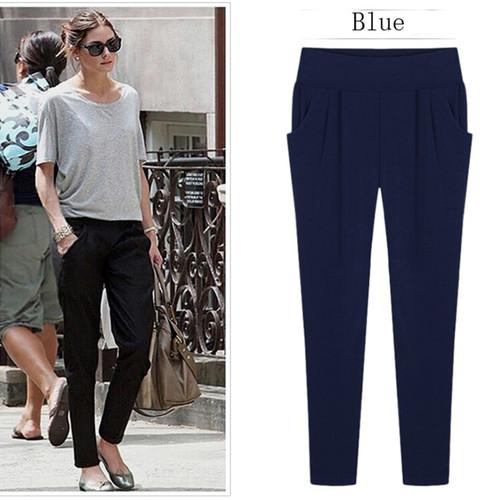 2017 Women Summer Trouser Ankle Length Plus size 5XL 6XL Loose Casual Harem Female Pants Pencil Stretch Sweatpant Elastic waist