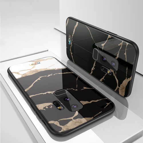 For samsung s9 case Mofi for samsung s9 plus case glass hard case for samsung s9 marble grain black white for galaxy s9 plus