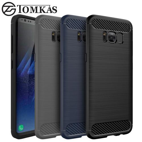 TOMKAS Original Phone Case For Samsung Galaxy S8 Plus Luxury Brushed Silicone Case for Samsung Galaxy S8 Silicon Cover