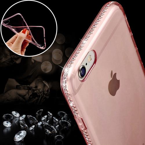 KISSCASE Bling Diamond Case For iPhone 5 5S SE 6 6S Plus 7 8 Plus Ultra Slim Soft Silicone Glitter Rhinestone Back Cases Fundas