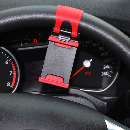 GETIHU Car Holder Mini Air Vent Steering Wheel Clip Mount Cell Phone Mobile Holder Universal For iPhone Support Bracket Stand