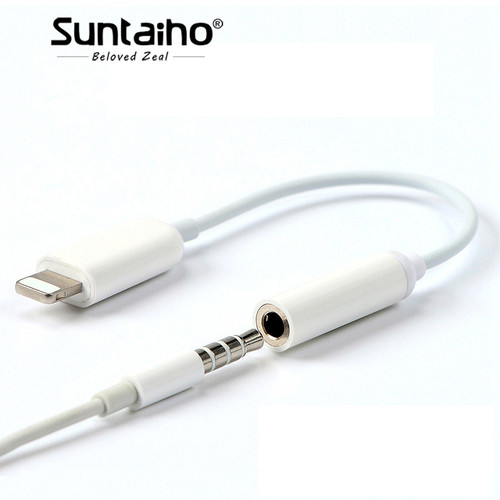 For Lightning to 3.5mm Audio Converter,Suntaiho For Lightning to 3.5mm Audio jack adapter Play Music for iPhone 7 8 Plus/X