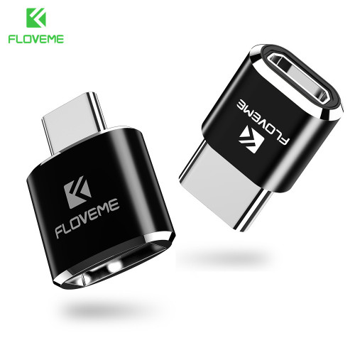 FLOVEME Type C OTG Adapter Micro USB/USB Female to Type-C Male Converter Adapter For Galaxy S8 Oneplus 3t 3 2 USB-C Charger Cabo