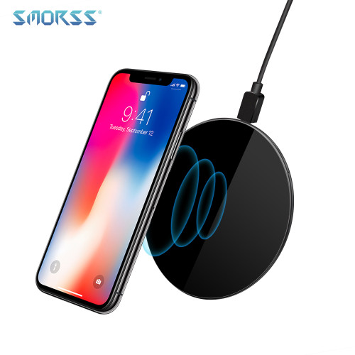 SMORSS 5V 2A Wireless Charger Qi Wireless Fast charge Ultra-light Charging Pad Support Phones with Wireless Charging Function