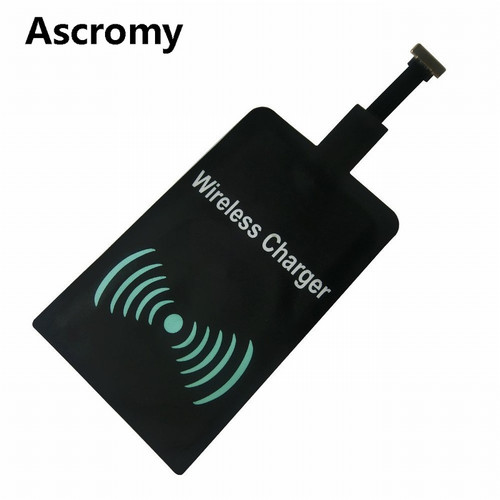 Ascromy Android Universal Qi Standard Wireless Charging Receiver Micro USB Wireless Charger Receiving Patch For MicroUSB Phones