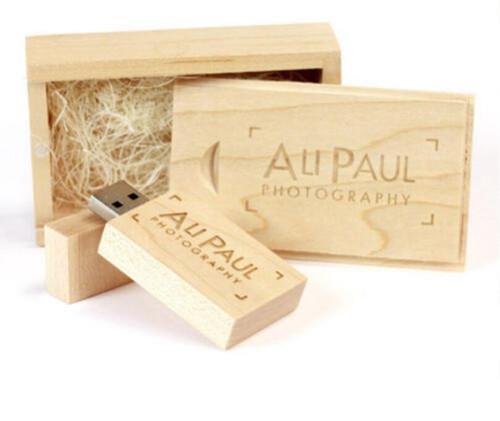 Custom Wooden Wood DIY logo usb 2.0 Version memory flash stick pen drive for wedding photography (we recomend 15pcs)