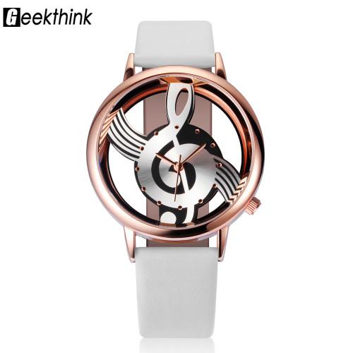 2017 Watches Women Brand Luxury Design Quartz Analog Hollow Music Note G4 G clef Watch Female fashion ladies Gfit Casual Clock