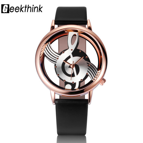 2017 Watches Women Brand Luxury Design Quartz Analog Hollow Music Note G4 G clef Watch Female fashion ladies Gfit Casual Clock