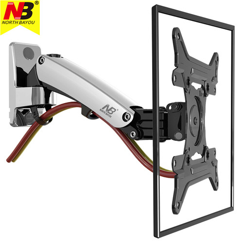 NB F200 TV Wall Mount Bracket 30-40inch Monitor Arm Holder Gas Spring Free Lift Full Motion Aluminum Alloy Rotating VESA Stand