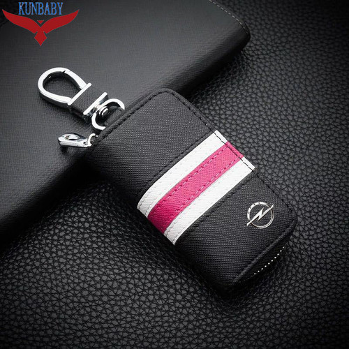 KUNBABY Top Men/Women's New Fashion Car Keys Bag Keys Chains Case Holder Cowhide Leather Key Wallet For Opel