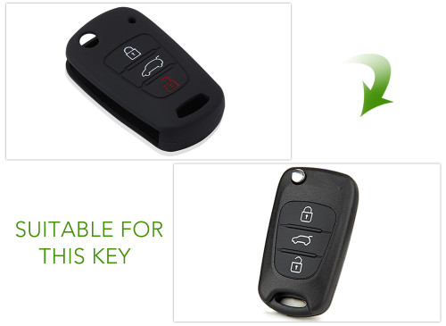 AndyGo Silicone 3 Button Remote Flip Key Case Fob Cover For Kia Rio Sportage Soul ceed For HYUNDAI i30 Verna Veloster i35