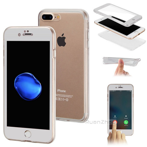 360 Degree Full Cover Soft TPU Silicone Case For iPhone 7 Case 5 5S SE 6S 6 8 8 Plus Screen  Protective Film for iPhone X Case