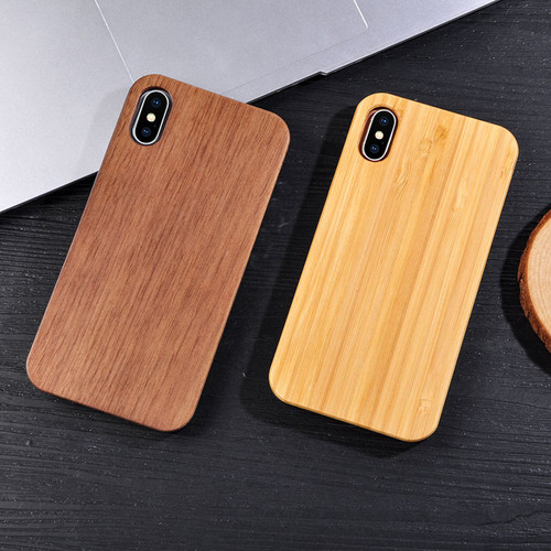 100% Original Real Wood Case For iPhone X 8 7 6 6s Plus 5 5s SE Fundas Genuine Natural Wooden + Hard PC Back Cover Phone Cases