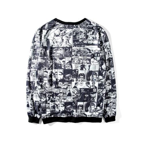 Aelfric Eden Marvel Sweatshirts Man Women Round Neck Hoodies Comic Japanese Nime Letter Printed Kpop Casual Black Hoodie DYY011