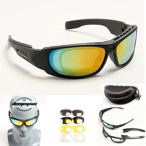 Tactical Goggles Sunglasses Men Military DAISY X7 C6 C5 Sun glasses for Men's War Game Tactical Glasses Outdoor