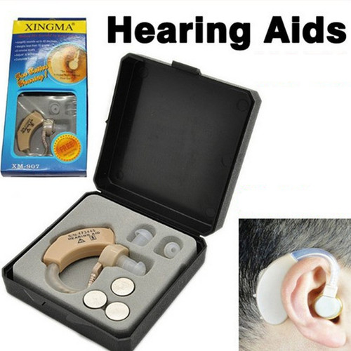 Small Convenient Behind Ear Hearing Aid Sound Voice Amplifier Invisible XM-907 Hearing Aid for the Deaf