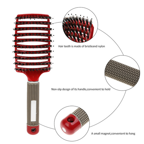 1 PC Hair Scalp Massage Comb Hairbrush Bristle Nylon Women Wet Curly Detangle Hair Brush for Salon Hairdressing Styling Tools