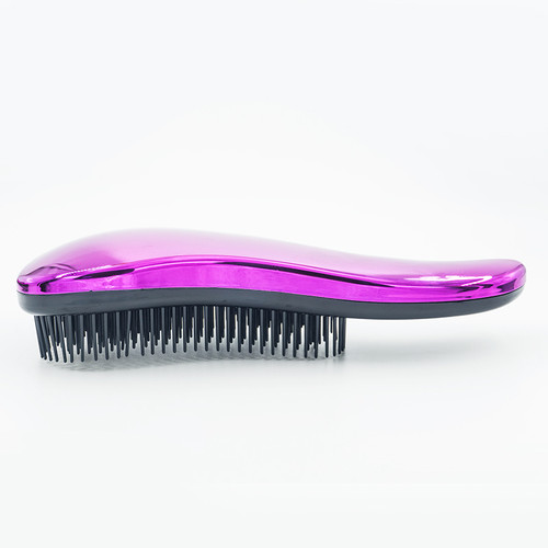 1pc Make Up Magic Anti-static Hair Brush Handle Tangle Detangling Comb Shower Electroplate Massage Comb Salon Hair Styling Tool
