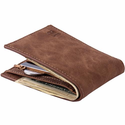 Men Wallets Top Pu Leather Vintage Design Purse Men Brand Famous Card holder Mens Wallet carteira masculina Wholesale price