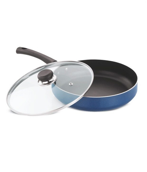 Vinod Zest Deep Fry Pan With Lid- 22 cm