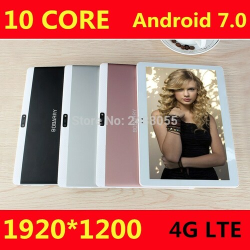 10 inch 4G LTE Tablets Deca Core Android 7.0 RAM 4GB ROM 64GB Dual SIM Cards 1920*1200 IPS HD 10.1 inch Tablet PCs+Gifs