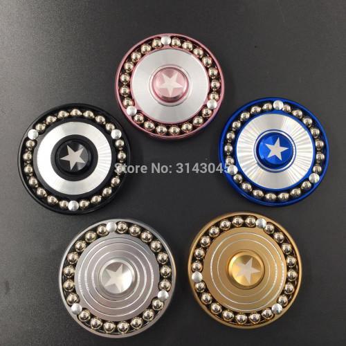21 Steel Ball Captain America Round Shield Spinner Fidget Spinner Hand Metal Educational Toys Spinner Anti Stress Toys