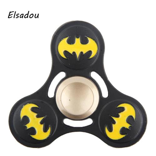 Elsadou Hand Spinner Metal Batman One Piece Spiderman Iron Man Fidget Toys Finger Spinner