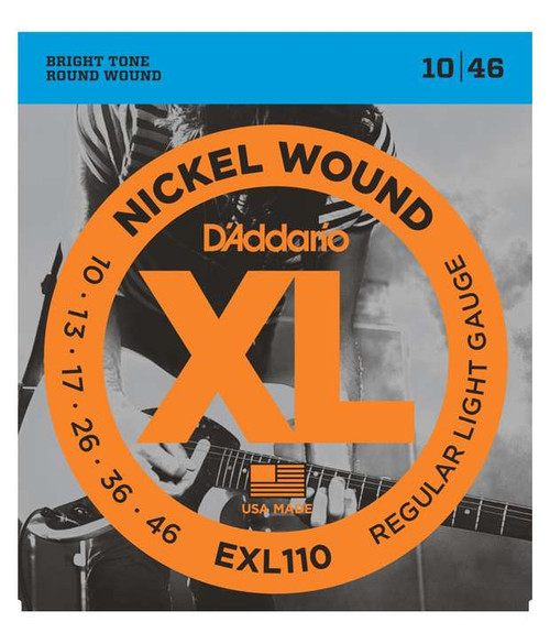 D'Addario EXL110, Nickel Wound Regular Light Electric Guitar Strings