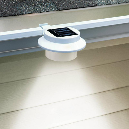 3-LED Solar powered Energy Saving Outdoor Light for Garden Landscape Yard /Fence Gutter /Door Gate /Pathway /Lobby Lighting
