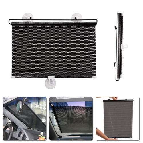 40cm*60cm Car Windshield Sunshade Shield Auto Retractable Side Window Solar Protection Sun Shade Curtain Front Windscreen