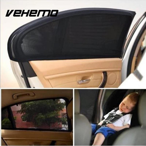 2Pcs Car Window Cover Sunshade Curtain UV Protection Shield Sun Shade Visor Mesh Solar Mosquito Dust Protection Car-covers New