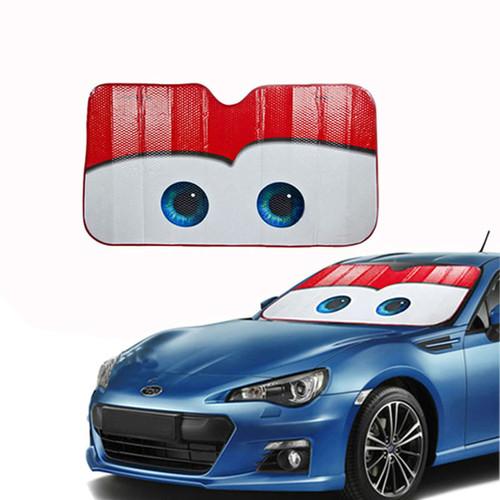 WESHEU Cartoon Window Foils Eye Pixar Heated Windshield Sunshade Car Window Windscreen Cover Sun Shade Auto Sun Visor Car-covers