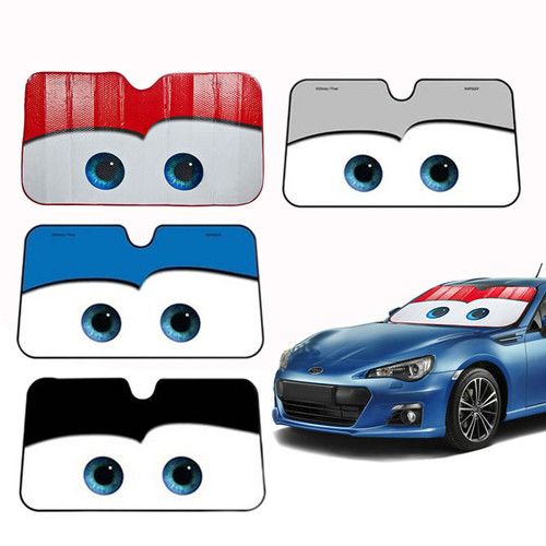 WESHEU Cartoon Window Foils Eye Pixar Heated Windshield Sunshade Car Window Windscreen Cover Sun Shade Auto Sun Visor Car-covers