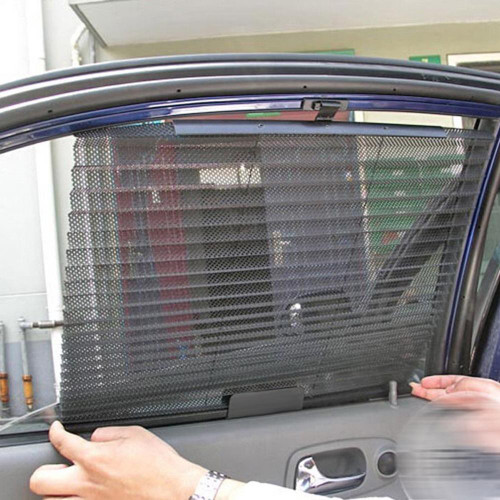 Car Window Sunshade Curtain Black Side Rear Glass Sunshade Sun Shade Cover Mesh Visor Shield Auto Windshield Sun Shade Protector