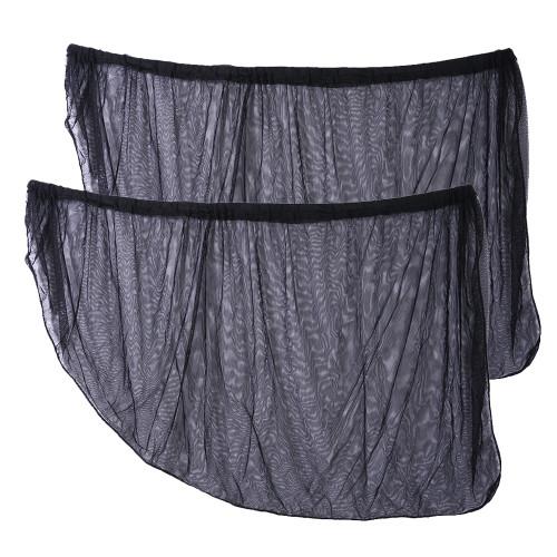 2Pcs 98*50 cm Window Sun Shade black Mesh Cover Child UV Protector Shield for most Car Auto Car Side Rear Window Sun Shade New