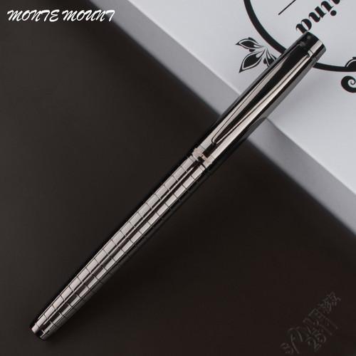 High Quality MONTE MOUNT luxury Gray Cross Line Business office Medium nib Rollerball Pen New