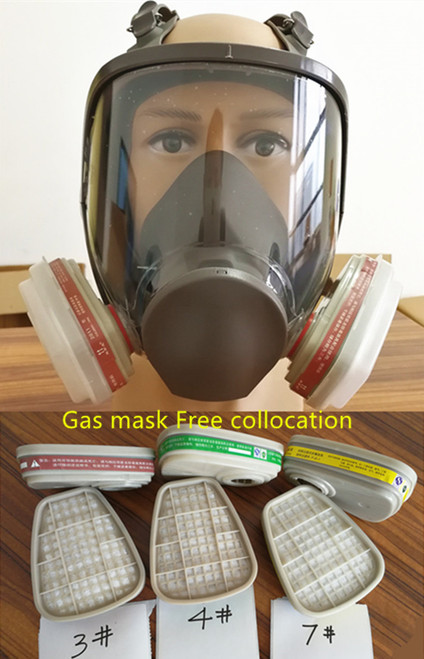 6800 Gas Mask  7pcs suit Full Face Facepiece Respirator For Painting Spraying same 3M 6800 free shipping