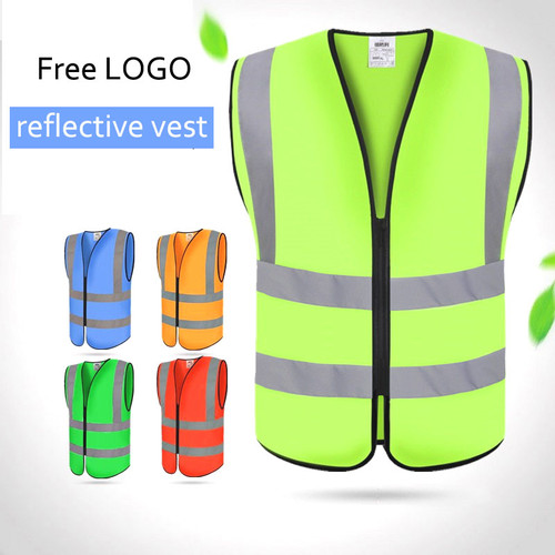 free shipping 1pcs wholesale safety vest polyester knitted safety vest reflective vest construction /traffic safety clothing
