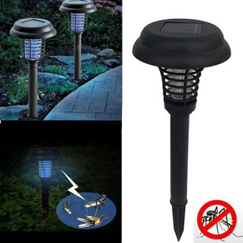 Solar Powered Mosquito Killer environmentally LED UV Night Lamp Outdoor Garden Insect Pest Bug Zapper Mosquito Killer Lamp
