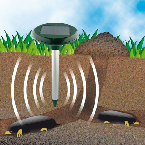 Solar Powered Ultrasonic Mole Gopher Rodent Chaser Repeller Rat Mouse Repeller Mole For Garden Yard
