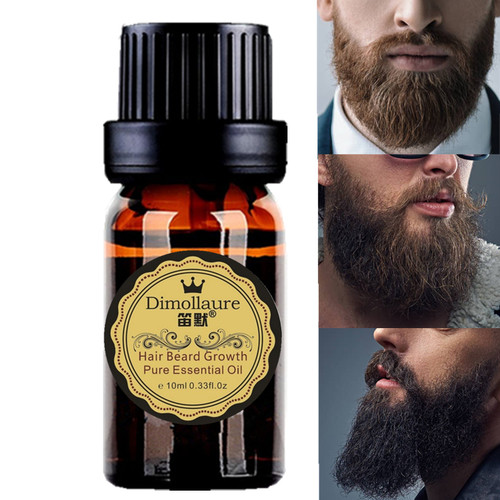 Dimollaure Men beard growth oil women Eyelash eyebrow Growth enhancer serum Mustache sideburn Chest hair growth Thicker Essence