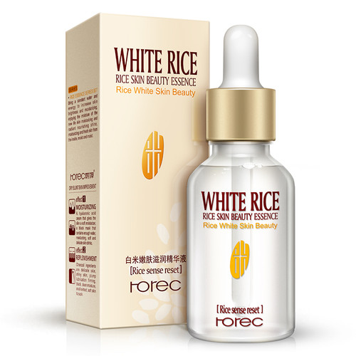 ROREC White Rice Serum Natural & Organic Reduces Wrinkles & Lightens Dark Spots Dark Circle, Fine Line & Sun Damage Corrector